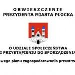 Obwieszczenie o udziale społeczeństwa i przystąpieniu do sporządzenia mpzp - nagłówek