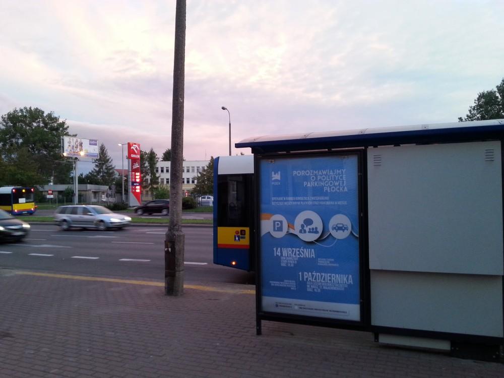 plakat - ogłoszenie o konsultacja polityki parkingowej