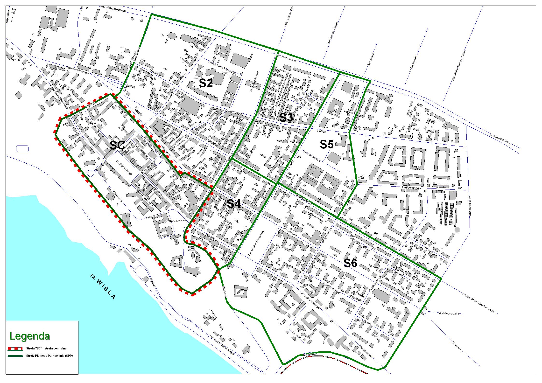 mapa Strefy płatnego parkowania wersja 2.0