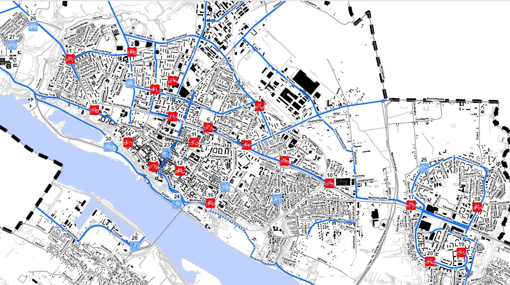 mapa stacji roweru publicznego