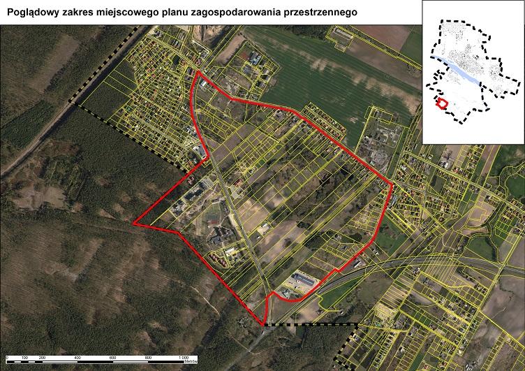 Plan Kutnowska - Łącka - Góry granica